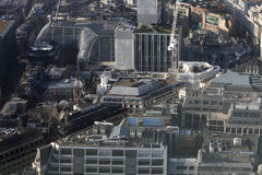 Aerial view of London from the Walkie Talkie building on 20 Fenchurch Street . Stock Photo
