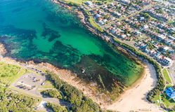 Aerial view of Long Bay, Sydney coastline Royalty Free Stock Image