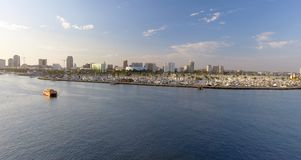 Aerial view of Long Beach, CA.  Stock Photography