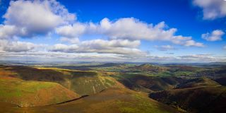 Aerial View of the long mynd Stock Photos