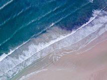Free Aerial View Looking Down On A Welsh Beach In The UK. Royalty Free Stock Photo - 105111305