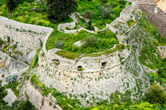 Aerial view,The loopholes of Palamidi Fortress,Nafplio,Greece. Aerial view. The loopholes of Palamidi Fortress, Nafplio ,Greece Stock Image