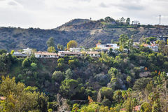 Aerial view of Los angeles city from Runyon Canyon park Mountain View Royalty Free Stock Images