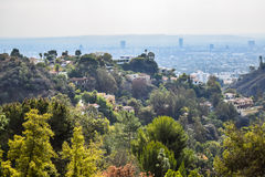Aerial view of Los angeles city from Runyon Canyon park Mountain View Royalty Free Stock Photography