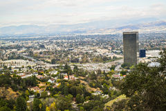 Aerial view of Los angeles city from Runyon Canyon park Mountain View Stock Photo