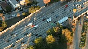 Aerial View of Los Angeles Freeway / Highway / Suburbs - Clip 2. Aerial footage of Los Angeles freeways and suburbs.  Shot using a Sony EX3 camera stock footage
