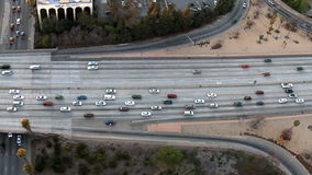 Aerial View of Los Angeles Freeway / Highway / Suburbs - Clip 3. Aerial footage of Los Angeles freeways and suburbs.  Shot using a Sony EX3 camera stock footage