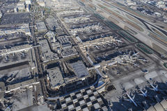Aerial View of Los Angeles International Airport Stock Image