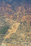 Aerial view of Los Angeles in the United States. Part of the city located near the foothills of Santa Monica mountains, landscape stock photos
