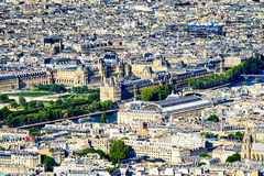Aerial View of the Louvre Museum Royalty Free Stock Images