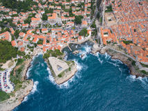 Aerial view of Lovrijenac fortress Royalty Free Stock Photo