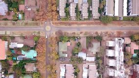 Aerial view of low car traffic in Pretoria, South Africa stock footage