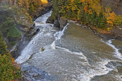 Aerial View Of The Lower Falls At Letchworth State Pa Stock Image