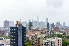 Aerial View of Lower Manhattan Stock Image
