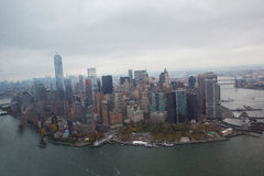 Aerial view of lower Manhattan New York City Royalty Free Stock Photos