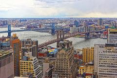 Aerial view of Lower Manhattan in New York Royalty Free Stock Photos