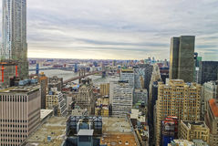 Aerial view on Lower Manhattan New York Royalty Free Stock Photography
