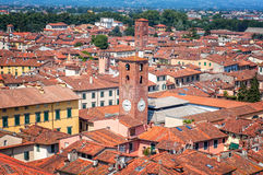 Aerial view of Lucca Royalty Free Stock Image