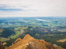 Aerial view of Lucerne lake and the Alps near Pilatus Stock Photo