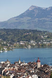 Aerial view of Lucerne Royalty Free Stock Photography