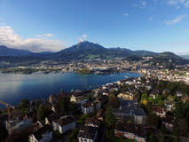 Aerial view, Lucerne, Pilatus, Switzerland Royalty Free Stock Image