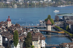 Aerial view of Lucerne Stock Images