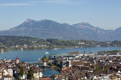 Aerial view of Lucerne Stock Photo