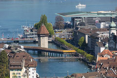 Aerial view of Lucerne Royalty Free Stock Photo