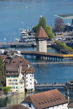 Aerial view of Lucerne Stock Photography