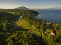 Aerial View of Lummi Island, Washington Royalty Free Stock Photos