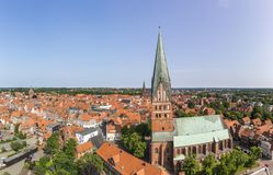 Aerial view of Luneburg, Germany. Aerial view of Hanseatic city of Luneburg, Germany Stock Photography