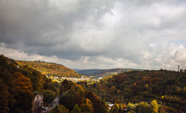 Aerial view of Luxembourg City. Royalty Free Stock Image