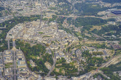 Aerial view of the Luxembourg city Royalty Free Stock Photos