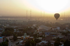 Aerial view of Luxor Stock Photo
