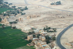 Aerial view of Luxor in Egypt Royalty Free Stock Images