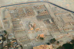 Aerial view of Luxor in Egypt Stock Photo