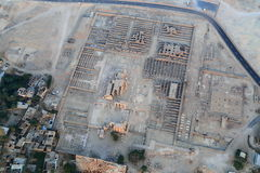 Aerial view of Luxor in Egypt. An aerial view of Luxor in Egypt Royalty Free Stock Images