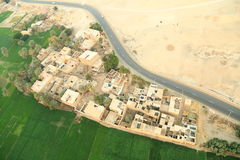 Aerial view of Luxor in Egypt Stock Images
