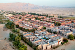 Aerial view on luxor residental area Royalty Free Stock Image