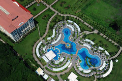 Aerial view of luxury resort pool Stock Image