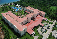 Aerial view of luxury resort Stock Photo