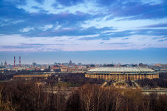 Aerial view of Luzhniki Stadium in Moscow Royalty Free Stock Photography
