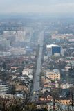 Aerial view of Lviv Royalty Free Stock Photography