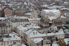 Aerial view of Lviv Royalty Free Stock Photos