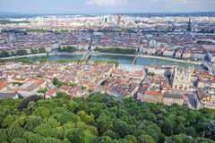 Aerial view at Lyon Stock Images