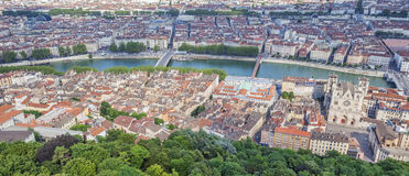 Aerial view at Lyon Stock Image