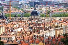 Aerial view of Lyon, France Royalty Free Stock Photography
