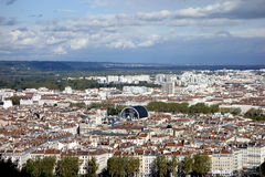 Aerial view of Lyon from Fourviere Hill Royalty Free Stock Photo