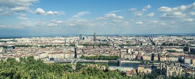 Aerial View of Lyon France Royalty Free Stock Photos