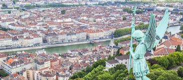 Aerial view of Lyon Royalty Free Stock Images